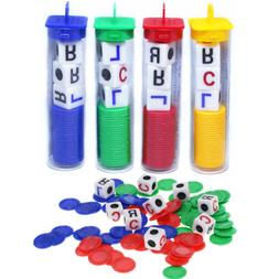 1 Set Acrylic Plastic Left Center Right Game Dice Multicolor
