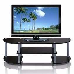 Furinno 11058BK/GY Turn-S-Tube Wide TV Entertainment Center