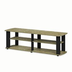 Furinno 11191BRM TV Stand Entertainment Center, Short 43.3""