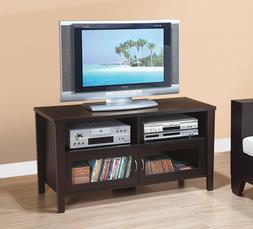 """29261 47"""" Smart Home Modern Red Cocoa Wood Entertainment Cen"""
