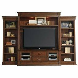 Bowery Hill 4 Piece Entertainment Center in Warm Cherry