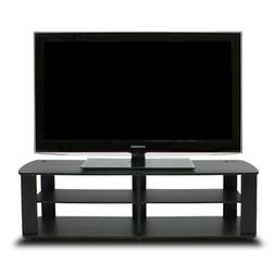 43 x 13 Inch 60 Lbs Table Home Office Black TV Stand Media E