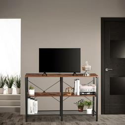47.2'' TV Stand 3 Tier Shelves Storage Console Table Media E