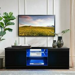50 inch TV Stand Cabinet With LED Shelves Modern Flat Panel