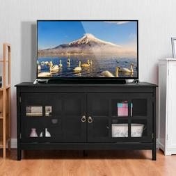 "50"" TV Stand Modern Wood Storage Console Entertainment Cen"