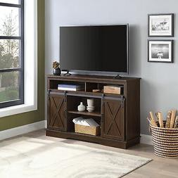 "52"" TV Stand Sliding Barn Door Console For TV's Up to 60"" En"