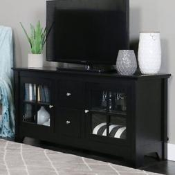 Walker Edison 53-in. Wood TV Console with 2-Drawers - Matte