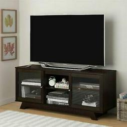 55 Inch TV Stand Flat Screen Entertainment Media Console Hom