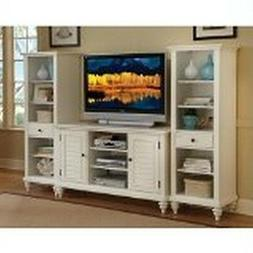Home Style 5543-34 Bermuda 3-Piece Entertainment Center, Bru