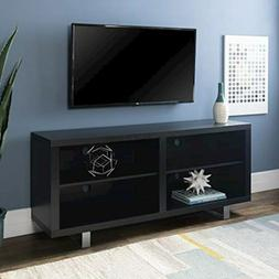 "WE Furniture 58"" Simple Modern TV Console with Metal Legs -"