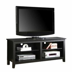 """58"""" Simple Wood TV Stand Media Console in Black"""