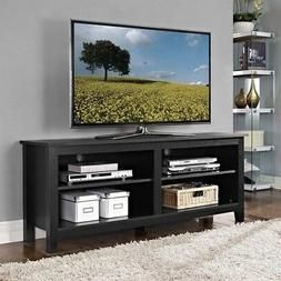 "Walker Edison 58"" Wood TV Console in Black"