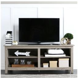 "WE Furniture 58"" Wood TV Stand Storage Console Driftwood"