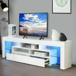 "63"" High Gloss TV Stand Cabinet Console Unit Furniture with"