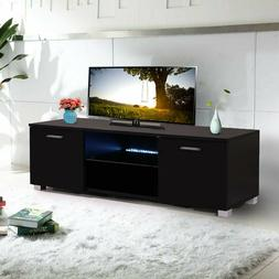 63 wood high gloss led tv stand