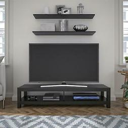 65 inch wood tv stand unit open