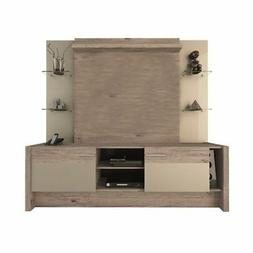 "Bowery Hill 74"" Entertainment Center in Beige"