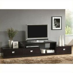 Baxton Studio Marconi Brown Asymmetrical Modern TV Stand