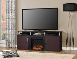Console TV Stand Electric Fireplace Table Shelf Storage Orga