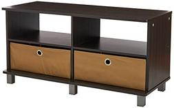 Furinno 11156EX/BR Entertainment Center w/2 Bin Drawers, Esp
