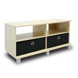Furinno 11156SBE/BK Entertainment Center w/2 Bin Drawers, St