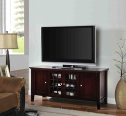 King's Brand E002 Wood Plasma TV Console Stand Entertainment