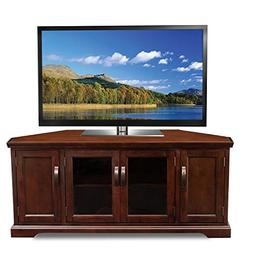 Leick 81386 Chocolate Cherry Corner TV Stand, 60""