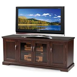 "Leick Furniture Chocolate Cherry and Bronze Glass 60"" W TV S"