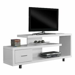 Monarch Specialties I 2573 White with 1 Drawer TV Stand, 60""