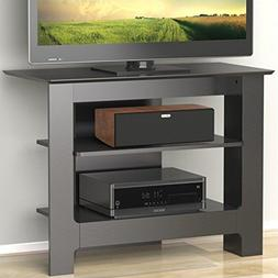 Pinnacle 31-inch Tall Boy TV Stand 100206 from Nexera, Black