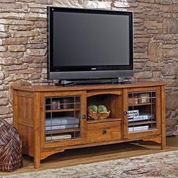 Sauder 404867 Rose Valley Entertainment Credenza, Abbey Oak
