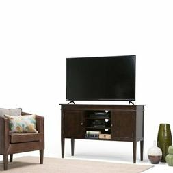 Simpli Home 3AXCCRL-04 Carlton Solid Wood Tall TV Media Stan