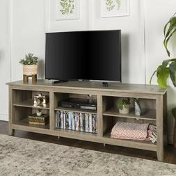 We Furniture 70 Wood Media Tv Stand Storage Console Driftw