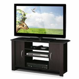 Adjustable Open Storage Shelves Wooden TV Stand Entertainmen