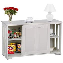 go2buy Antique White Stackable Sideboard Buffet Storage Cabi