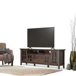 "Simpli Home Artisan Solid Wood 72"" TV Media Stand, Natural A"