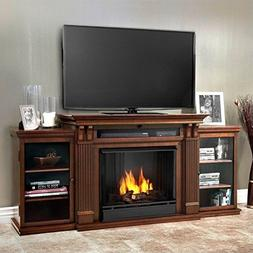 Real Flame Ashley Ent Center Ventless Gel Fireplace in Dark