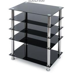 Audio Component Rack AV Tower Media Stereo Stand Electronics