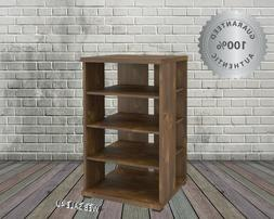 Audio Video Stand Media Entertainment Center Rack Wood Tower