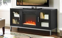 avenue wood fireplace tv console