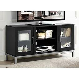 "WE Furniture 52"" Avenue Wood TV Console with Metal Legs - Bl"