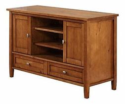 Simpli Home AXWSH004 Warm Shaker TV Stand in Honey Brown AXW