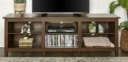We Furniture Az70Csptb Tv Stand, Traditional Brown
