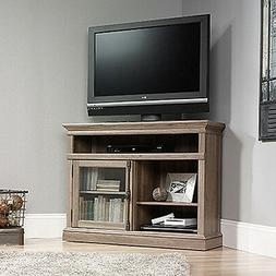 Barrister Lane Corner TV Stand Salt Oak Finish