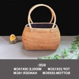 Basket Storage - Vietnamese Rattan Shopping Bag Basket Stora