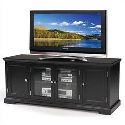 Leick Black Hardwood TV Stand, 60-Inch