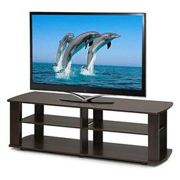 Black Tv Stand Media Entertainment Center 42 Inch 60Lb Flat