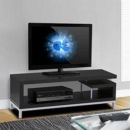Yaheetech Black Wood TV Stand Console Table Home Entertainme