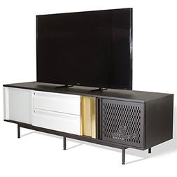 "Sauder Boutique 73"" TV Stand in Black and White"