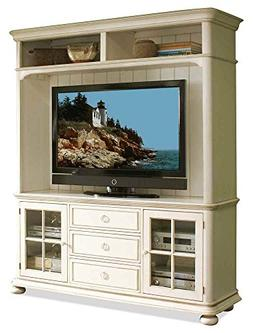 Riverside Furniture 2-Pc Entertainment Center in Honeysuckle